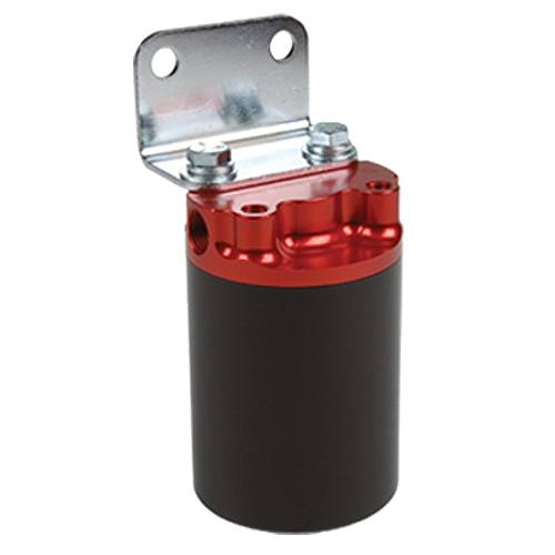 Aeromotive - AEI12319 - 100 Micron, Red/Black Canister Fuel Filter