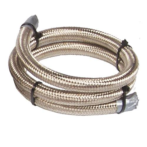 Aeromotive - AEI15706 - 12' An-08 Stainless Steel Braided Line