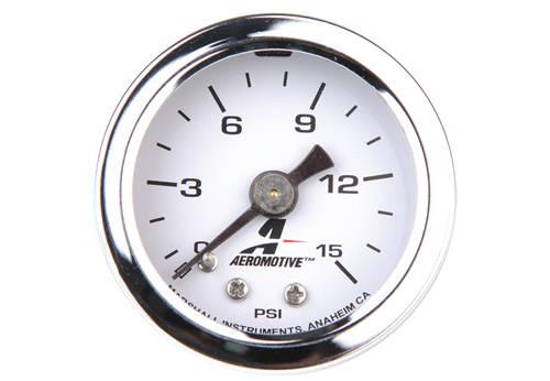 Aeromotive - AEI15632 - 0-15 Psi Fuel Pressure Gauge