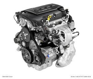 GM (General Motors) - 12668772 - 1.4 LITER ECOTEC, TURBOCHARGED, 4-CYLINDER, 85 C.I.D., GM ENGINE