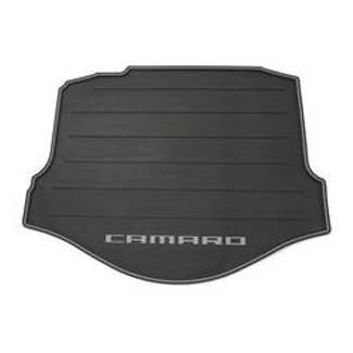 GM (General Motors) - 22761211 - 2011-14 Chevy Camaro Convertible Cargo Area Mat - Black with Gray Camaro Logo