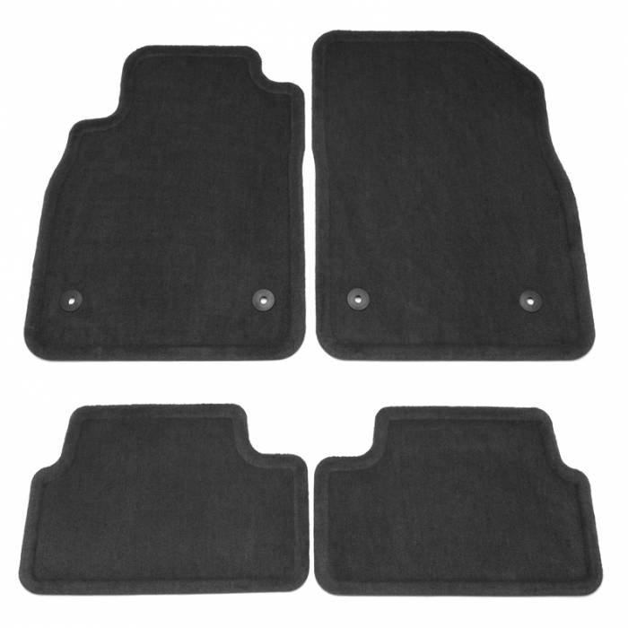 GM (General Motors) - 95229923 - GM Production Carpet Floor Mats - 2011-12 Chevy Cruze, Jet Black (RPO Code 4AA)
