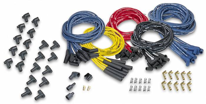 Moroso Performance - MOR73214 - Moroso 8mm Blue Max Universal Fit Wire Set - 135 degree Boot, Red