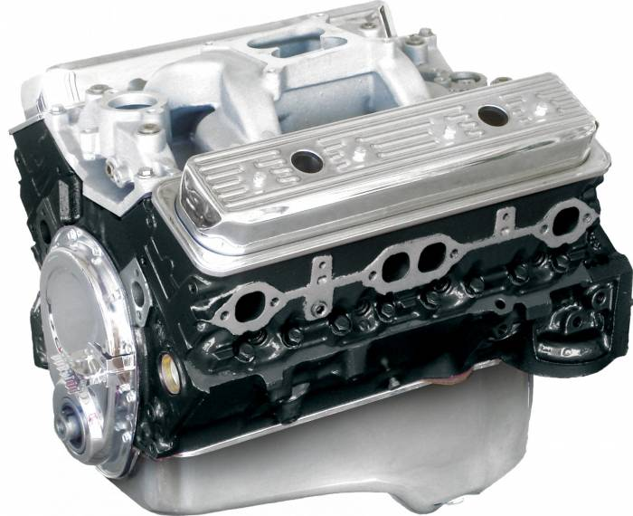 Blue Print - BP3550CT1 - BluePrint SBC 355CID 385HP Long Block Crate Engine 1pc Rear Seal