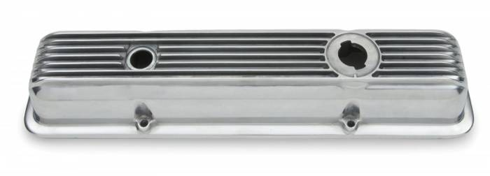 GM (General Motors) - 474208 - CPP Cast Aluminum Mid-Year Corvette Valve Cover, SBC, Polished with Breather Hole and Oil-Filler Cap Provision
