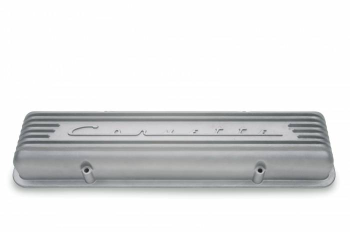"GM (General Motors) - 3726086 - 1957 - 1959 "" Corvette"" Finned Cast Aluminum Valve Cover  - Fits All 1955-1959 Chevy 265 & 283 Heads With Staggered Bolt Pattern Mounting  (These Covers Are Sold Individually)"