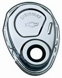 Proform - 141215 - Chrome Stamped Steel Timing Chain Cover - 69-91 SBC