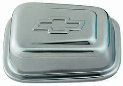 Proform - 141619 - Push-In Style Chrome Air Breather Cap - Rectangular with Bowtie Emblem
