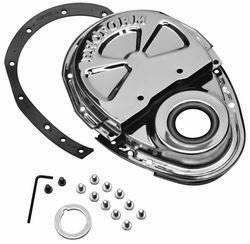 Proform - 66666 - Timing Chain Cover - Chevy Small Block, 2 Piece Design