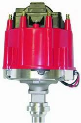 Proform - 66941RM - Chevy HEI Electronic Racing Distributor without Mechanical Advance, Red Cap