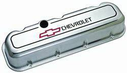 Proform - 141142 - Polished Die Cast Aluminum Valve Cover - pre-1987 BBC, Tall with Baffle
