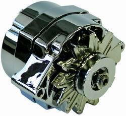 Proform - 664451N - GM 100 AMP Chrome 1-Wire Alternator