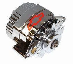 Proform - 141659 - 80 AMP Chrome 1-Wire Alternator with Bowtie Logo
