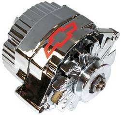 Proform - 141660 - 120 AMP Chrome 1-Wire Alternator with Bowtie Logo