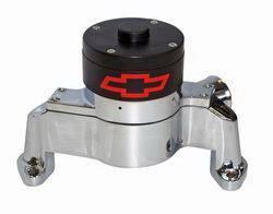 Proform - 141650 - SBC Bowtie Electric Water Pump - Chrome Die-Cast Aluminum
