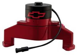 Proform - 141672 - BBC Bowtie Electric Water Pump - Red Die-Cast Aluminum