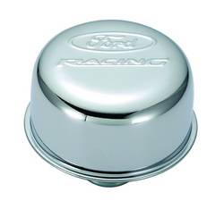 Proform - 302215 - Ford Racing Air Breather Cap - Chrome, Push-In