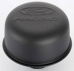 Proform - 302216 - Ford Racing Air Breather Cap - Black Crinkle, Push-In