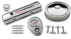 Proform - 141900 - Chevy Engine Dress-Up Kit - SBC, Chrome Stamped Steel