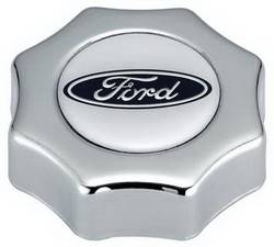 Proform - 302230 - Ford Oil Filler Cap - Chrome with Ford Oval