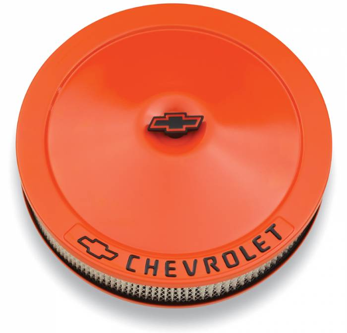 "Proform - 141785 - Chevy Orange 14"" Classic Air Cleaner with Bowtie Center Nut"
