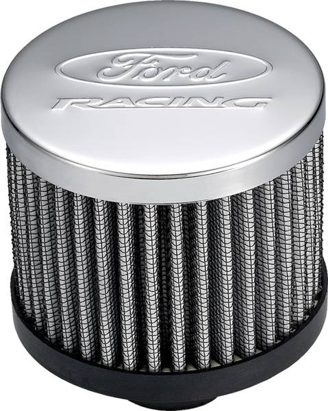 Proform - 302236 - Ford Racing Air Breather Cap - Chrome with Exposed Filter, No Hood