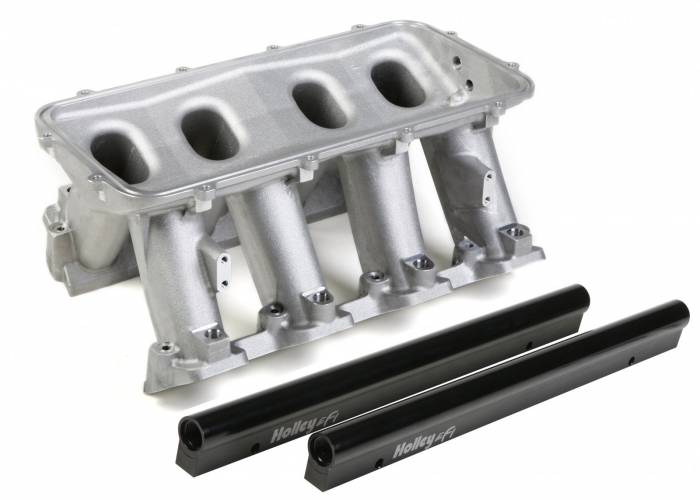 Holley Performance - HLY300-214 - LS3 Style EFI Base Only - Fuel Rails Included (Plenum-Top Mounting, 92mm & 102mm Throttle Valve fabrication Flanges Available Separately)