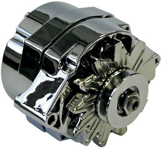 Proform - 66445N - Chrome Alternator - GM 73-86 Internal Regulator, 63 AMP
