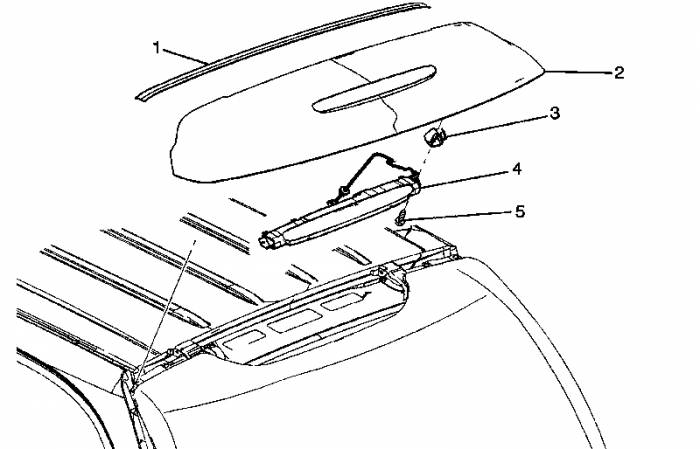 GM (General Motors) - 19120564 - Rear Window Tailgate Molding 2002-2006 Trailblazer EXT only (Trim around 3rd brakelight)