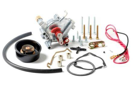 Holley Performance - HLY45-224S Holley Electric Choke Conversion Kit, Shiny with External Vacuum Source