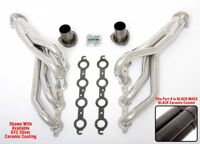 "Hedman Hedders - HD45243 1982-93 GM S-series Truck, 2WD 1-3/4"" Mid Length LS Engine Swap Headers"