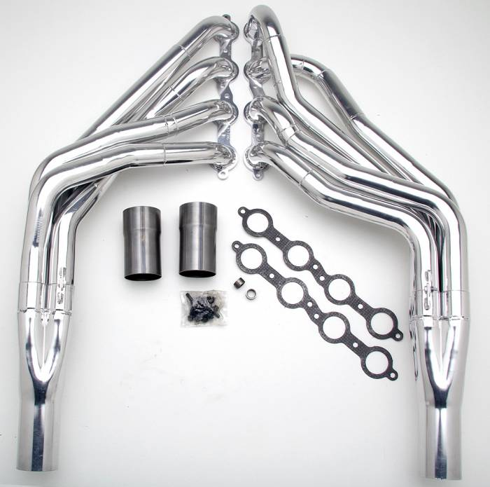 "Hedman Hedders - HD45706 1967-98 GM Truck & SUV, 1/2 Ton, 2WD 1-7/8"" X  2"" Stepped Long Tube LS Engine Swap Headers"