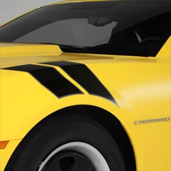 GM (General Motors) - 22798335 - Fender Hash Marks Stripe Package, 2012-14 Camaro, Satin Black