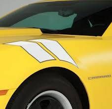 GM (General Motors) - 22798338 - Fender Hash Marks Stripe Package, 2012-14 Camaro, White Pearl