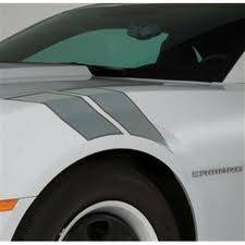 GM (General Motors) - 22798339 - Fender Hash Marks Stripe Package, 2012-14 Camaro, Cyber Gray