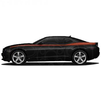 GM (General Motors) - 20990195 - Heritage Stripe Decal Package, 2010-14 Camaro, Orange