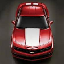 GM (General Motors) - 92248297 - Hood and Hockey Stick Stripe Package - 2010-13 Camaro Coupe Only, White