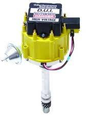 Davis Unified Ignition - DUI-15720YL - Davis Unified SBC & BBC HEI Performance Distributor with Tach Drive & Yellow Cap