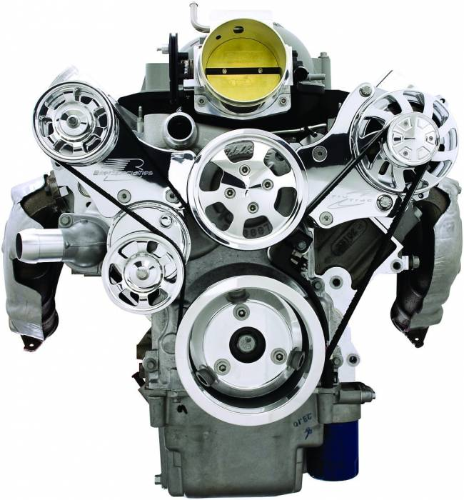 Billet Specialties - BSP13475A - Tru Track LS Serpentine System - Alternator Only, Premium Polished Finish