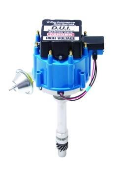 Davis Unified Ignition - DUI-12720-ZZ454BL - Davis Unified GM ZZ454  HEI Performance Distributor with Blue Cap