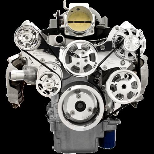 Billet Specialties - BSP13455 - Tru Trac LS (Except LS7) Serpentine System - Alternator And Power Steering Only,  Polished