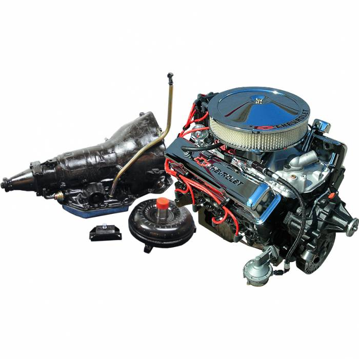 PACE Performance - GMP-TH350290HP-1 - Pace SBC 350 290HP  Chrome Finish Turnkey Engine with TH350 Transmission Package