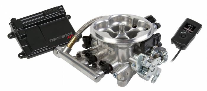 Holley Performance - HLY550-405 - Holley Terminator 950CFM EFI 4bbl Throttle Body Fuel Injection System - Tumble Polished