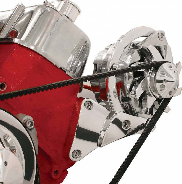 Billet Specialties - BSP10620 - Billet Specialties Bracket – Alternator Side Mount V-Groove BBC Short Water Pump