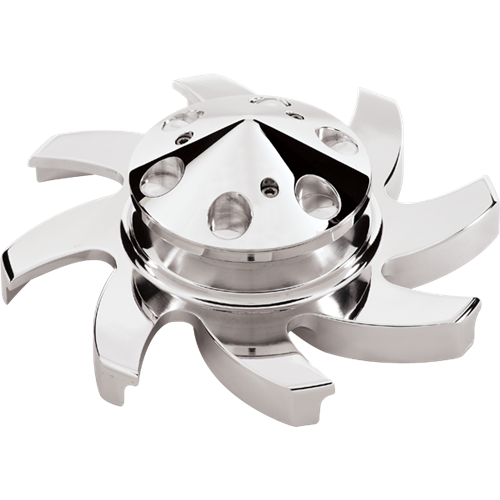 "Billet Specialties - BSP85220 - Billet Specialties Alternator Pulley with Fan, 2-1/2"" Diameter"