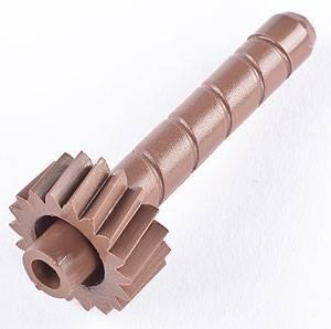"""TCI Transmission - TCI880000 - TCI Speedometer Driven Gear - GM 67-73 Powerglide, 76-84 200C, 71-84 375B, 76-79 475 - 18 Tooth, Brown, 2.25""""L x .305"""" Shaft x .785"""" Gear Type F"""