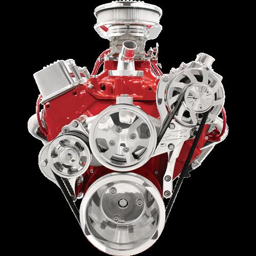 Billet Specialties - BSP13125 - Billet Specialties Tru Trac Serpentine System - Small Block Chevy, Alternator Only, Polished Finish