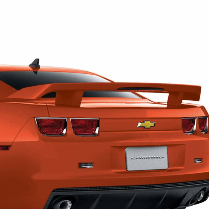 GM (General Motors) - 22940488 - High Wing Spoiler - 2010-13 Camaro Coupe Without RPO Code D80, Inferno Orange (GCR)