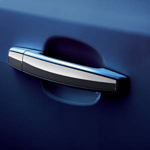GM (General Motors) - 95074026 - GM Door Handle Set - Blue Topaz (GTS) with Chrome Stripe, 2012-13 Chevy Cruze
