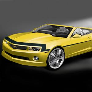 GM (General Motors) - 22844275 - Nose and Spear Stripe Package - 2012-13 Camaro Base Model, Black